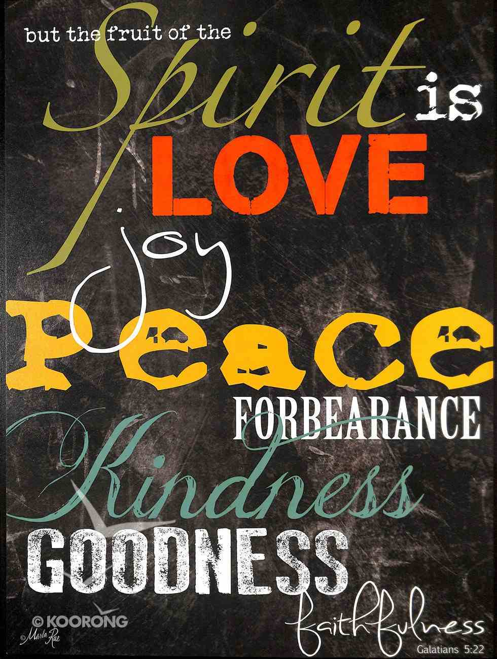 Mounted Print: But the Fruit of the Spirit, Galatians 5:22, on Mdf Board Plaque