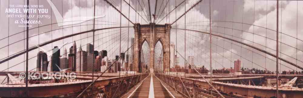 Mounted Print: Brooklyn Bridge, the Lord Will Send His Angel, Genesis 24:40 Plaque