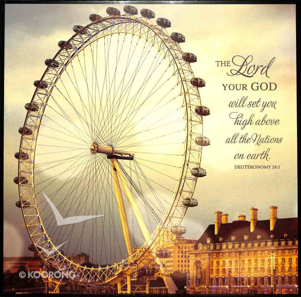 Mounted Print: London Eye, the Lord Your God, Deuteronomy 28:1 Plaque