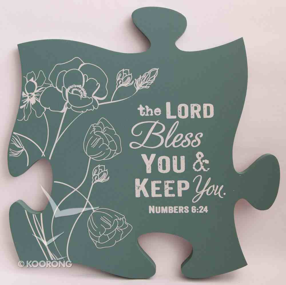 Puzzle Pieces Wall Art: The Lord Bless You and Keep You - Numbers 6:24 Plaque