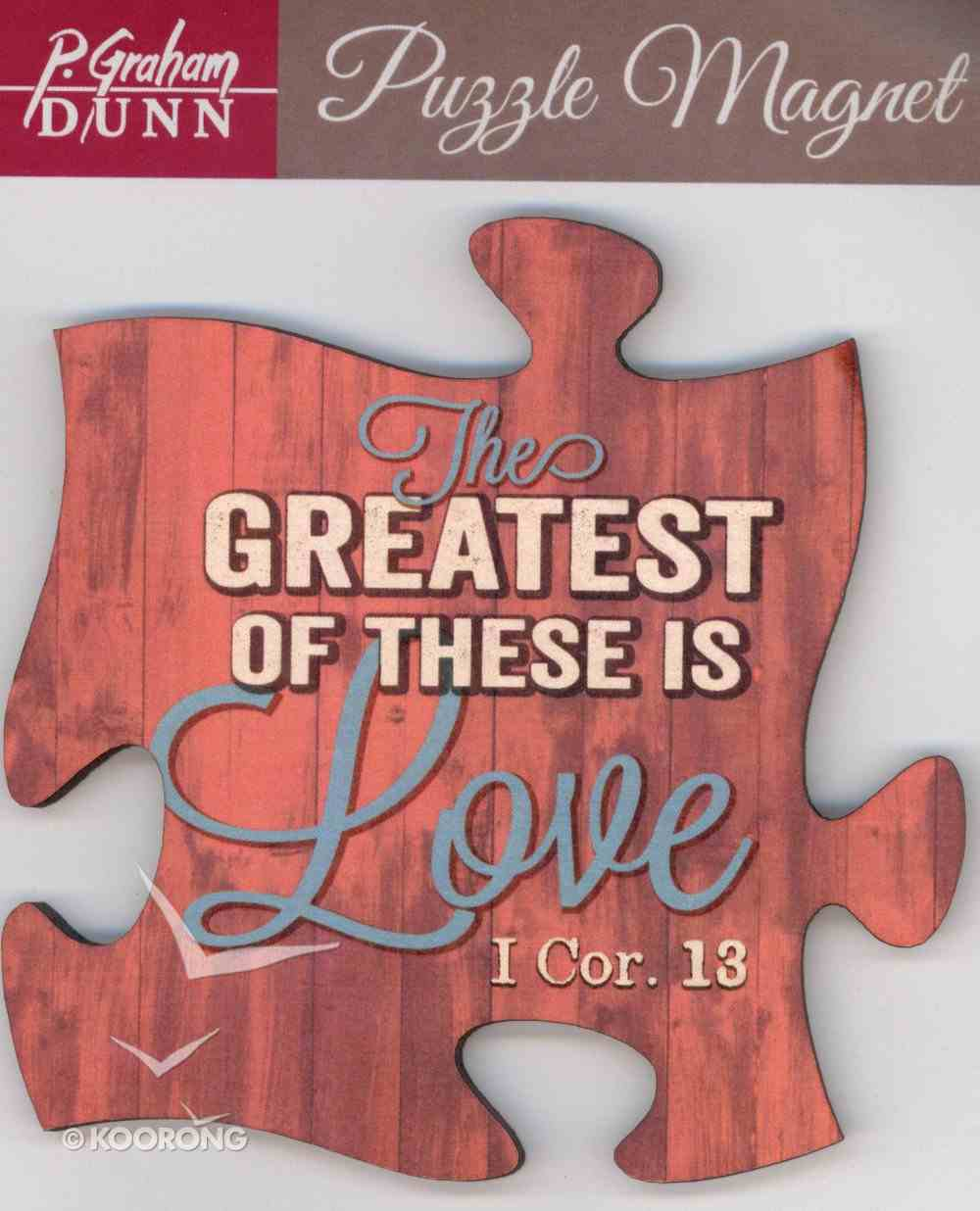 Puzzle Magnet: The Greatest of These is Love - 1 Cor 13 Novelty