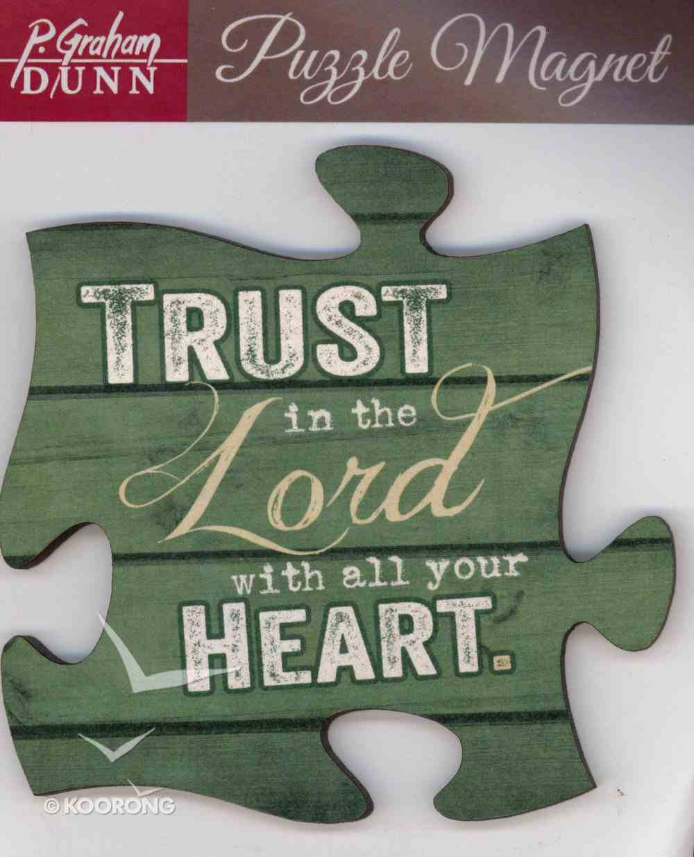 Puzzle Magnet: Trust in the Lord With All Your Heart Novelty