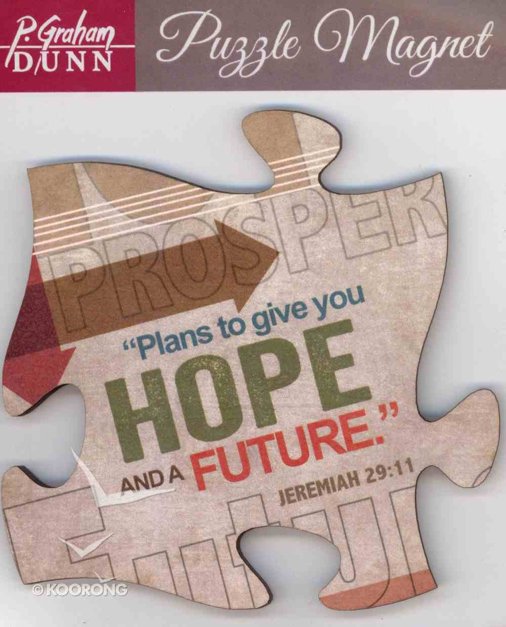 Puzzle Magnets: Plans to Give You Hope and a Future - Jeremiah 29:11 Novelty