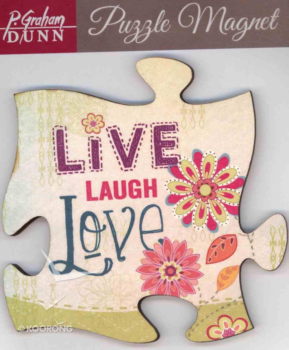 Puzzle Magnets: Live, Laugh, Love Novelty