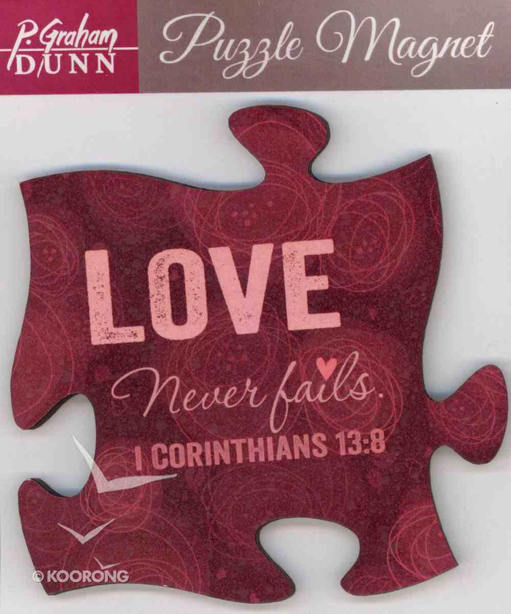 Puzzle Magnets: Love Never Fails - 1 Cor 13:8 Novelty