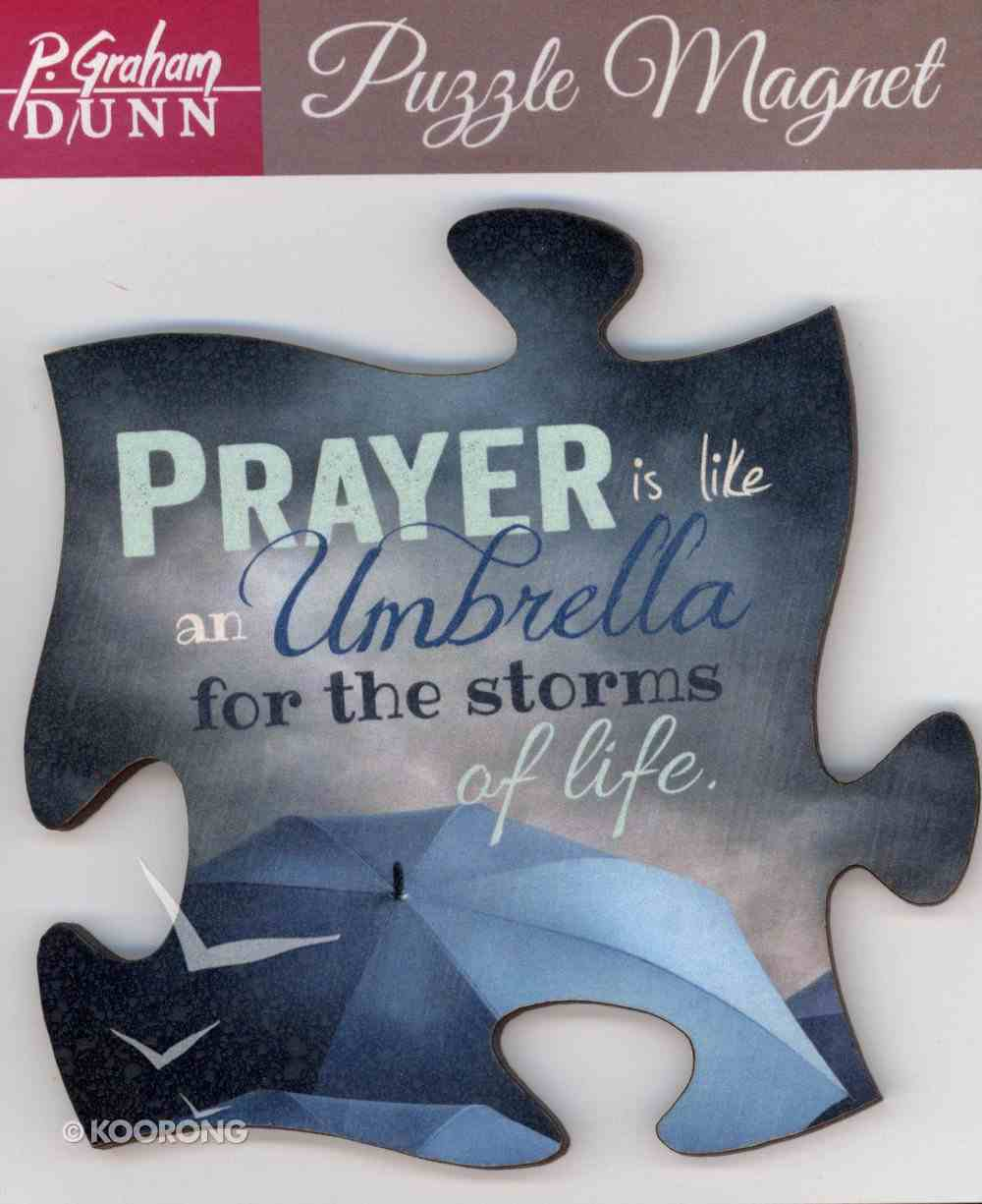 Puzzle Magnets: Prayer is Like An Umbrella For the Storms of Life Novelty