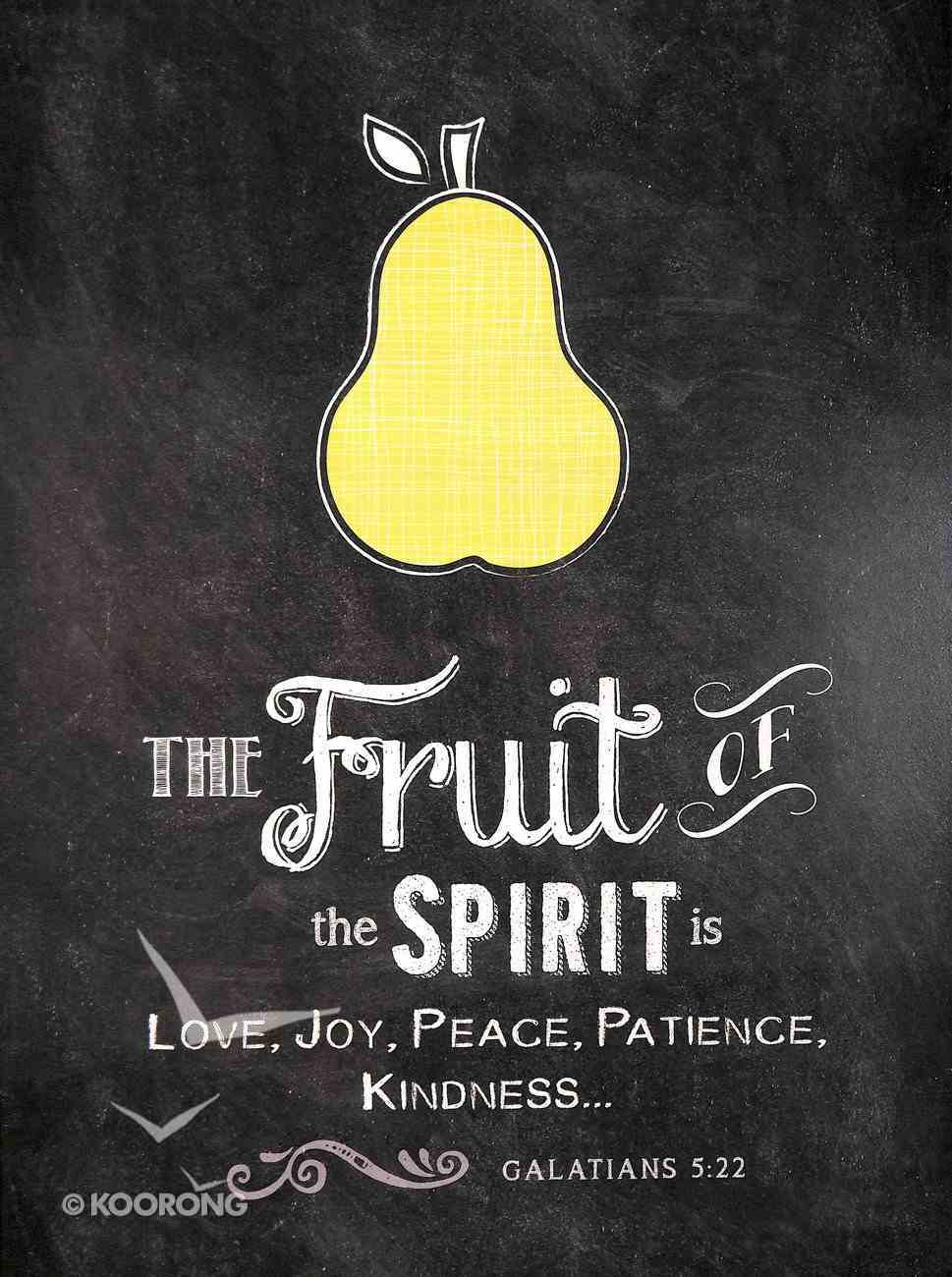 Chalkboard Plaque: The Fruit of the Spirit Galatians 5:22 Plaque