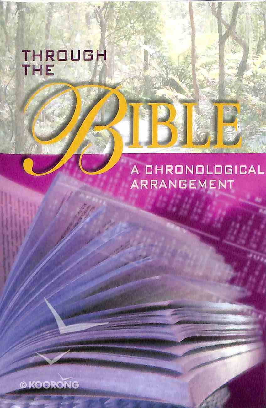 Through the Bible a Chronological Arrangement (Pack Of 25) Booklet