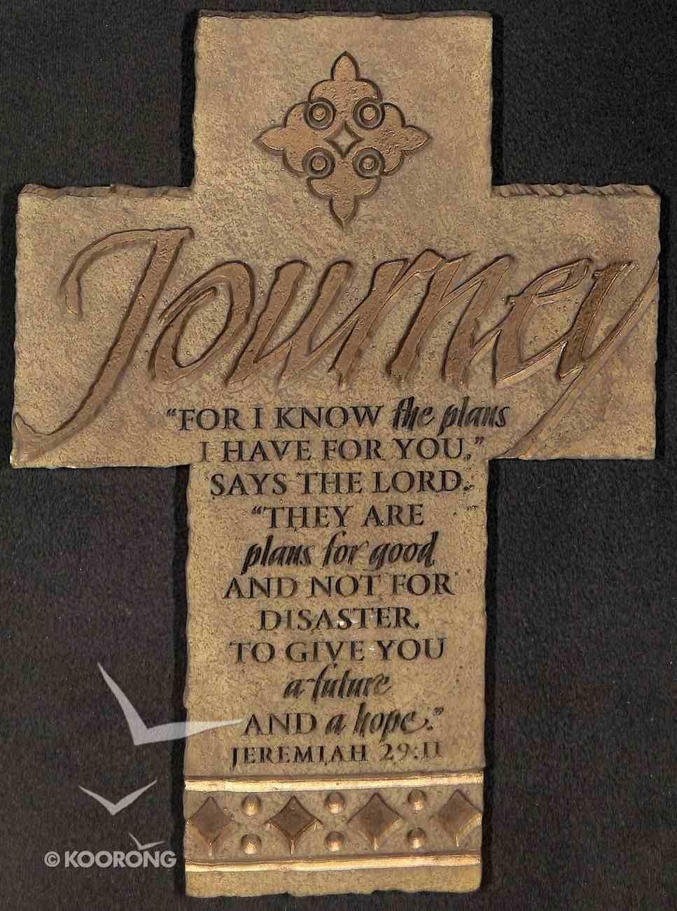 Wall Cross: Journey (26cm X 18cm) Plaque