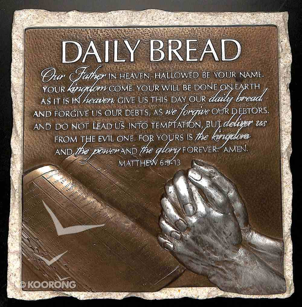 Moments of Faith Stone Sculpture Plaque: Daily Bread, Matthew 6:9-13 Homeware