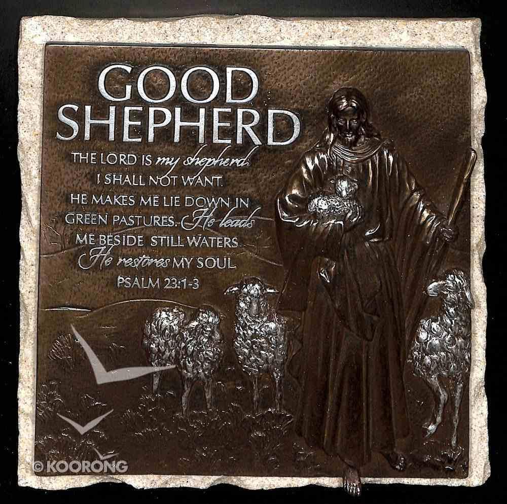 Moments of Faith Stone Sculpture Plaque: Good Shepherd, Psalm 23:1-3 Homeware