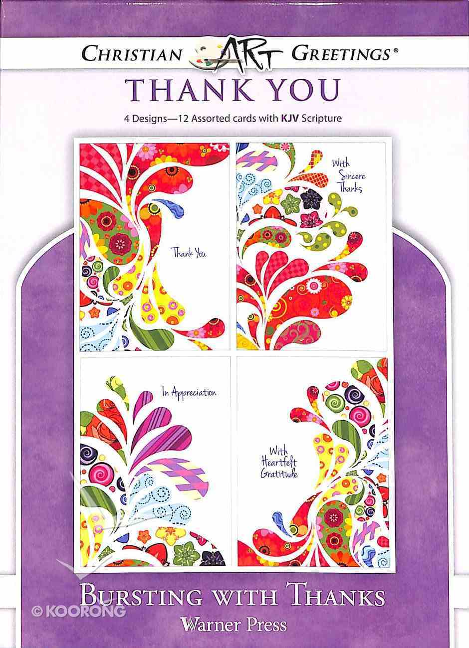 Boxed Cards: Thank You - Bursting With Thanks Box