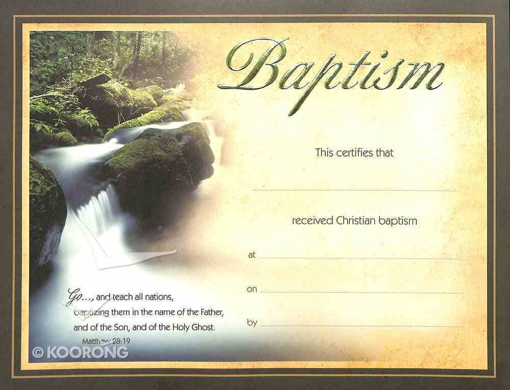 Certificate Baptism: Waterfall Green Foiled Stationery
