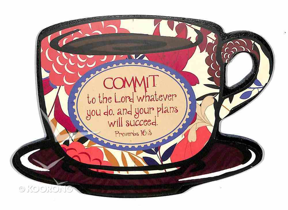 Mocha Plaques: Commit to the Lord Plaque