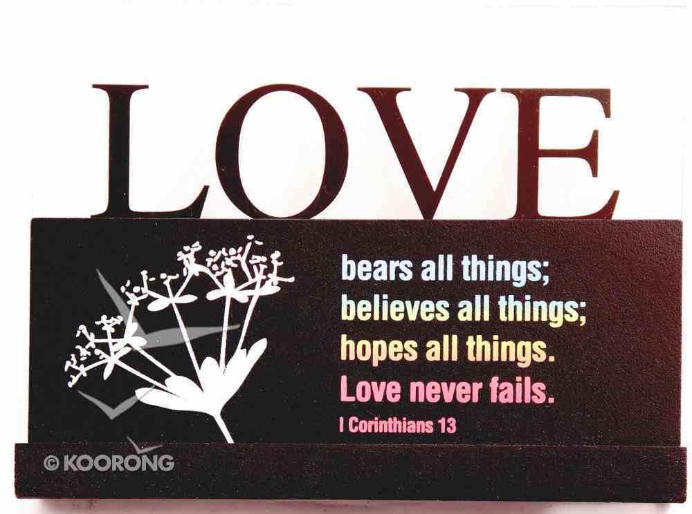 Lifewords Plaque: Love Bears All Plaque