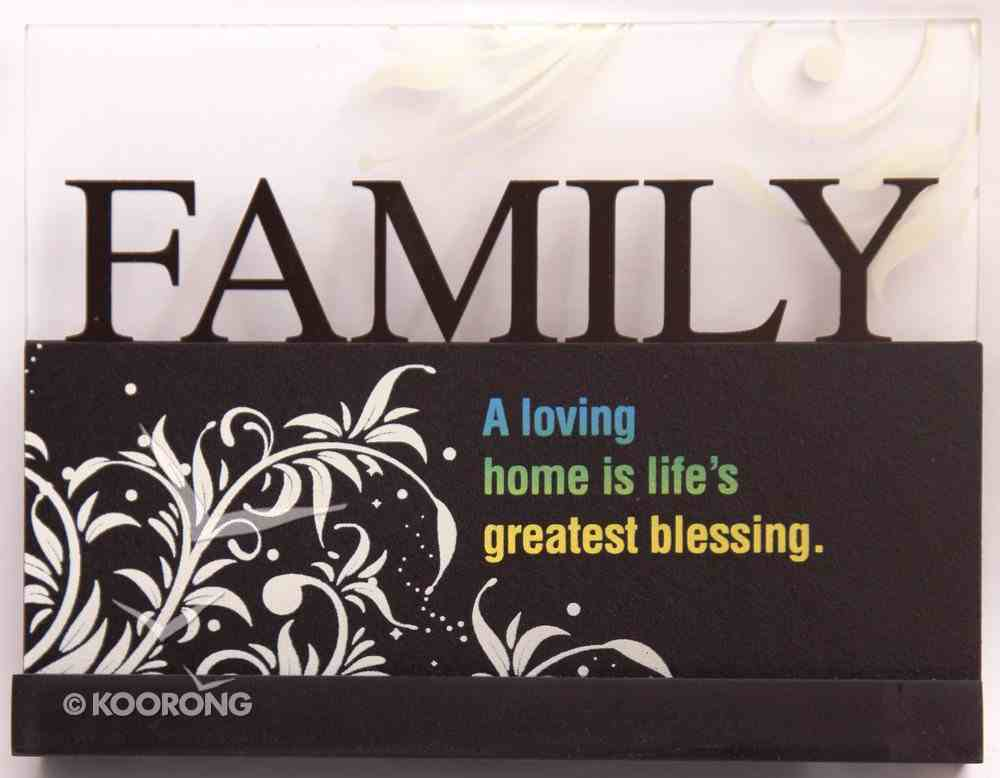 Lifewords Plaque: Family Plaque