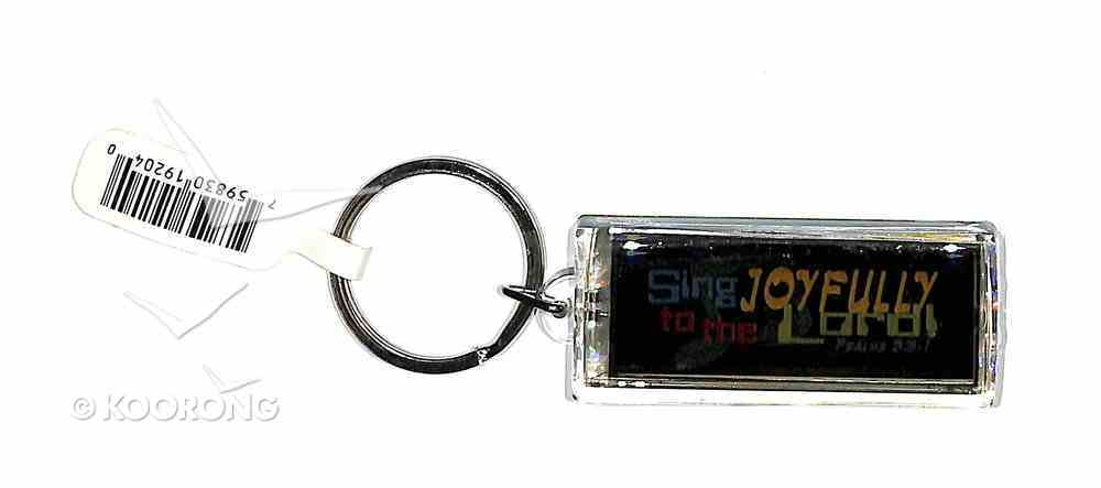 Solar Powered Flashing Lcd Keyring: Sing Joyfully to the Lord Novelty
