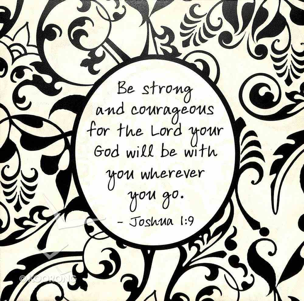 Shabby Chic Canvas Wall Art: Joshua 1:9 Be Strong and Courageous..... Plaque