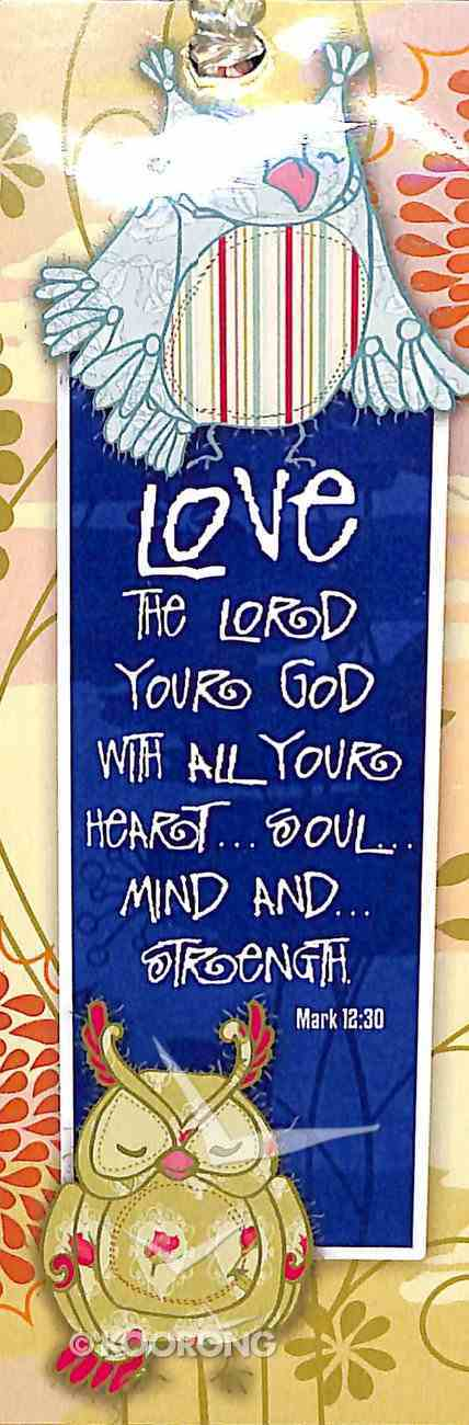 Bookmark With Tassel: Love the Lord Your God With All Your Heart... Stationery