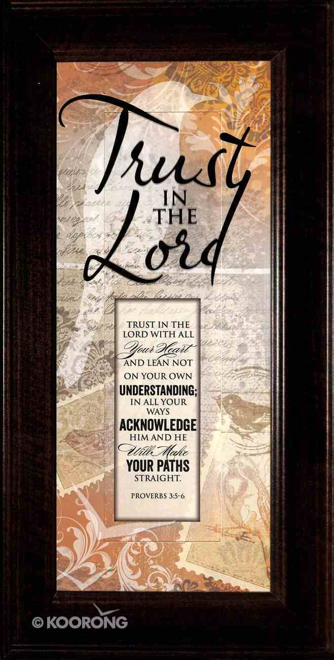 Words of Grace Plaque: Trust in the Lord Plaque