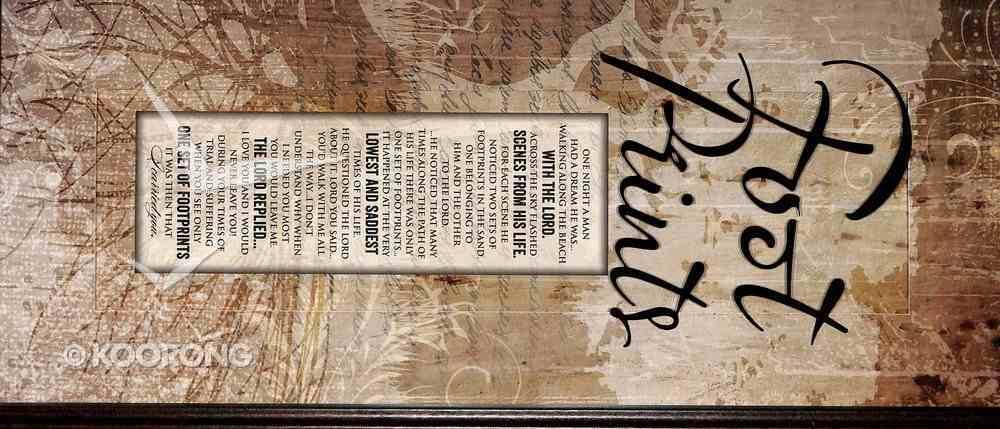 Words of Grace Plaque: Footprints Plaque