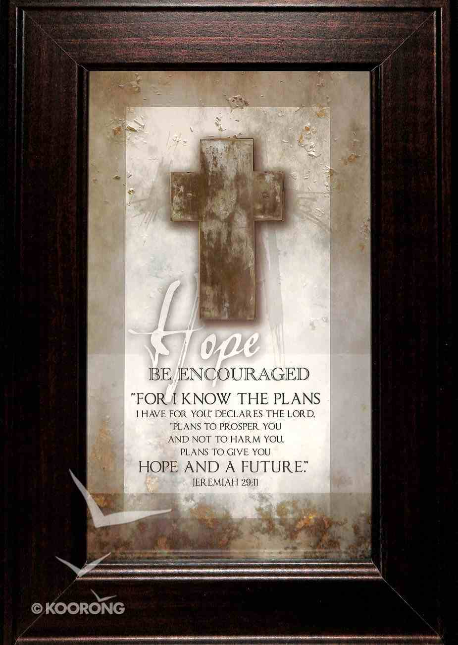 Symbols of Faith Plaque: Hope - Be Encouraged Plaque