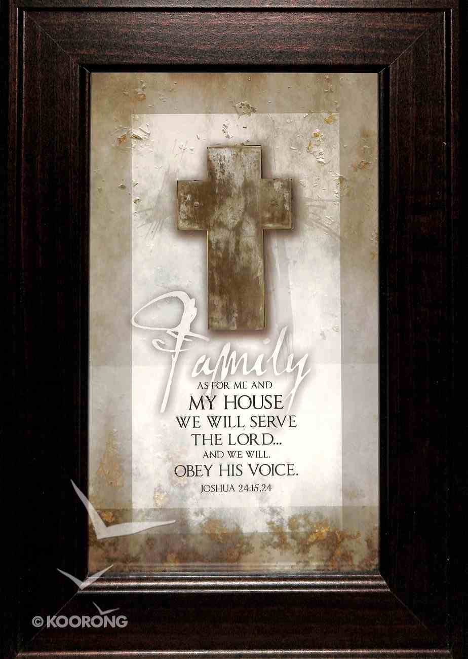 Symbols of Faith Plaque: Family - as For Me and My House... Plaque