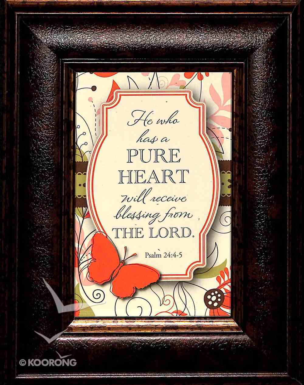 Mini's: He Who Has a Pure Heart (Framed Easel Back) Plaque