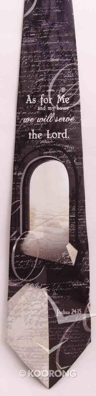 Silk Tie: My House (Joshua 24:15) Soft Goods
