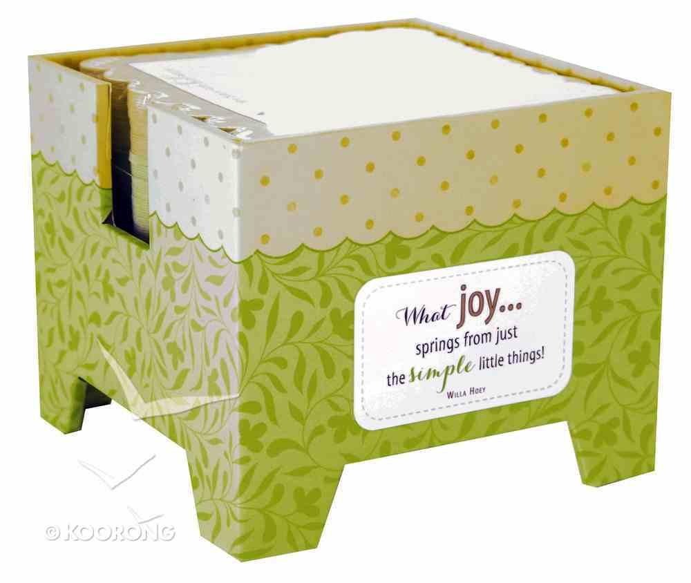 Sticky Memo Cube (Simple Joys Series) Stationery