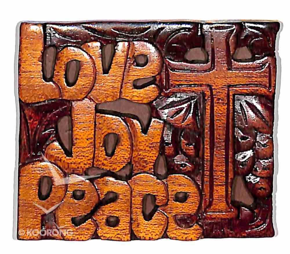 Magnet: Love Joy Peace Novelty