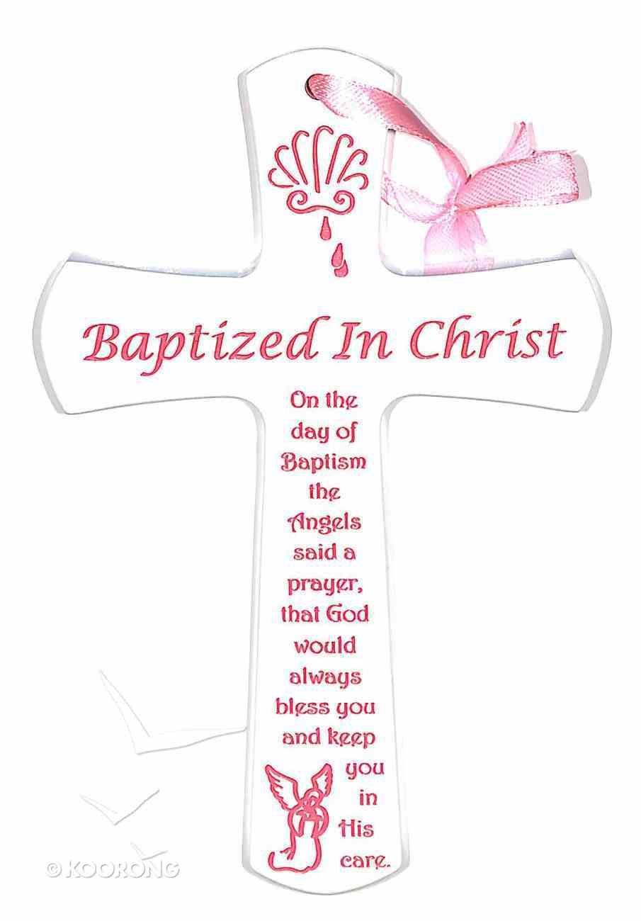 Baptism Cross: Pink Homeware
