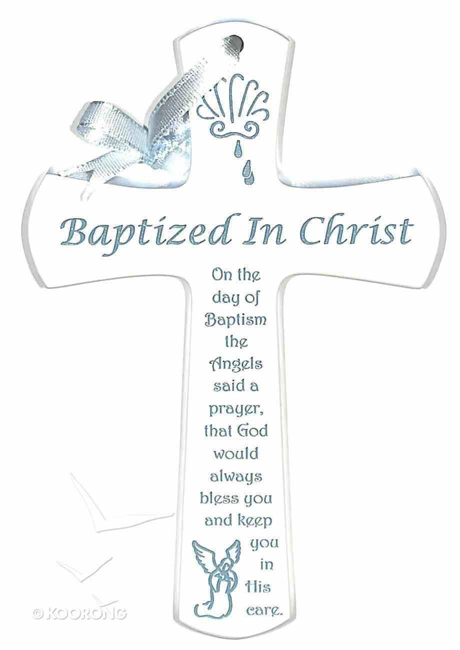 Baptism Cross: Blue Homeware