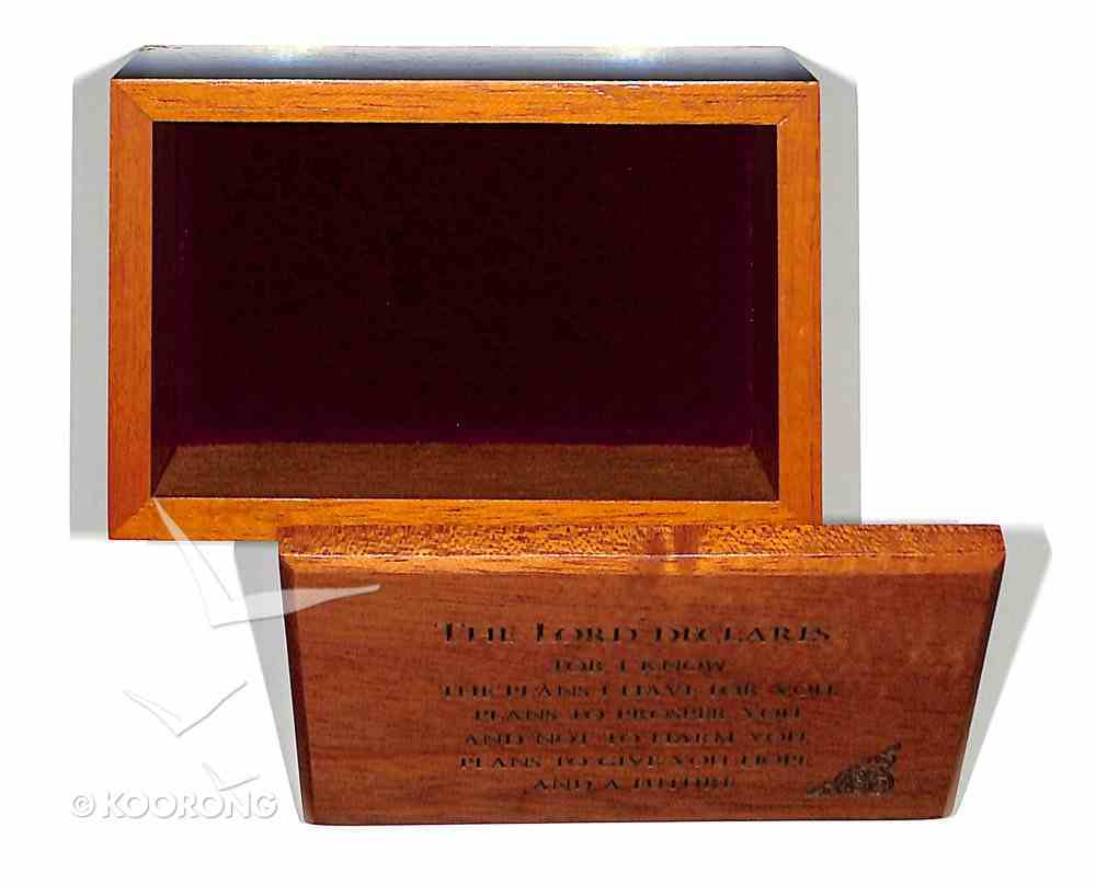 Wooden Keepsake Box: For I Know the Plans I Have For You Homeware
