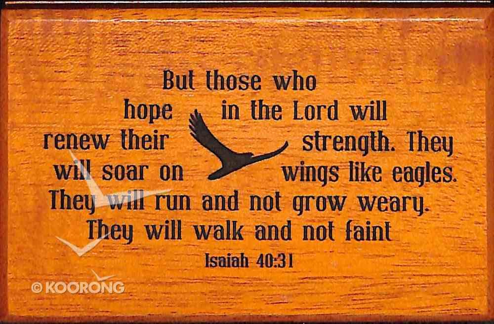 Wooden Keepsake Box: Isaiah 40:31 Homeware