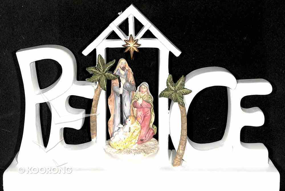 Peace Nativity Ornament With Led Light (Batteries Included) Homeware