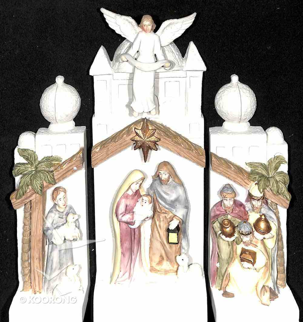 Nativity Set With Led Light, 3 Pieces (Batteries Included) Homeware