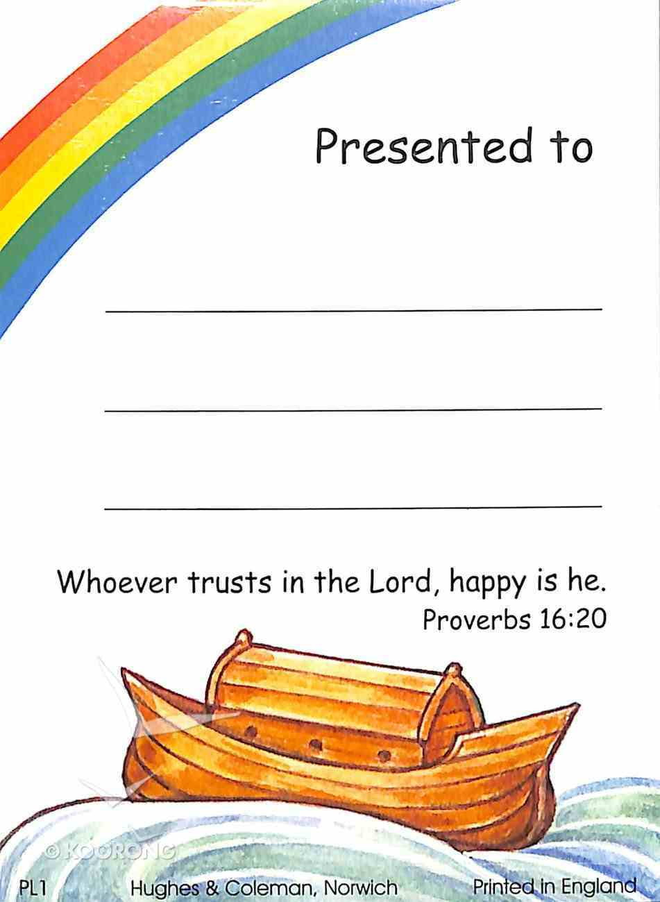 Presentation Labels: Noah's Ark, Proverbs 16:20 (100 Pack) Stationery