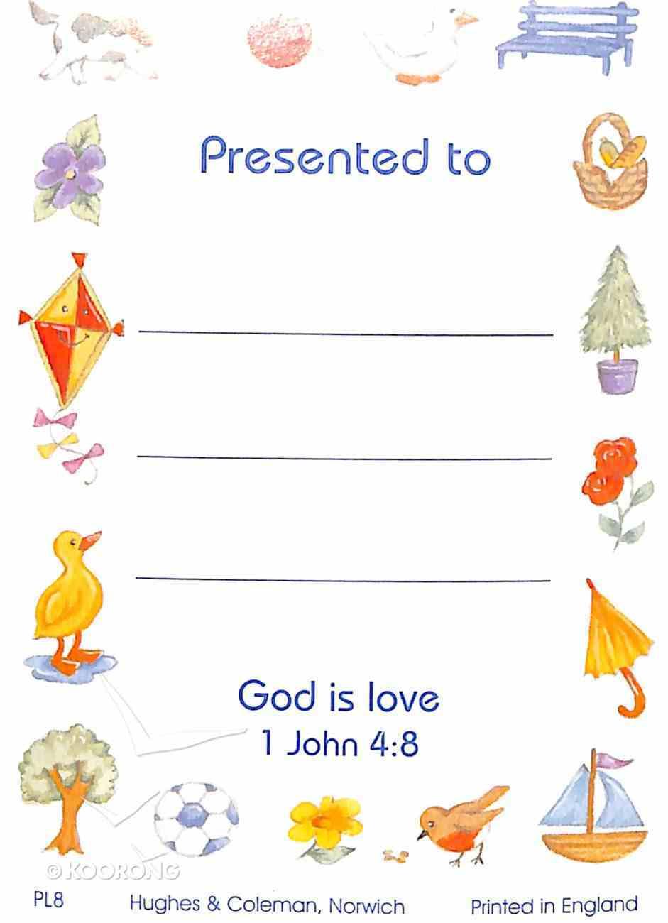 Presentation Labels: Animals, Trees, Toys, 1 John 4:8 (100 Pack) Stationery