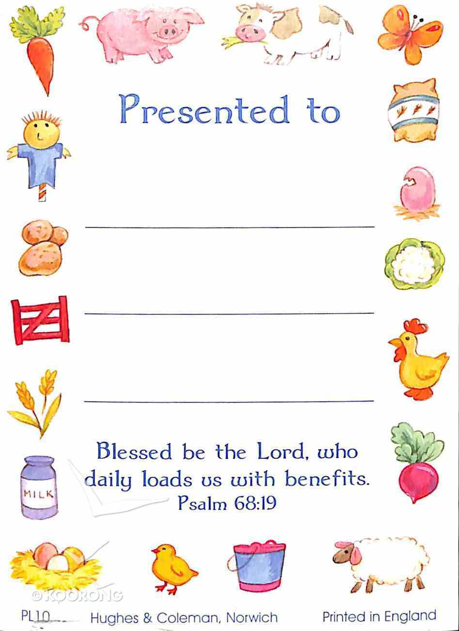 Presentation Labels: Farm Items Psalm 68:19 (100 Pack) Stationery