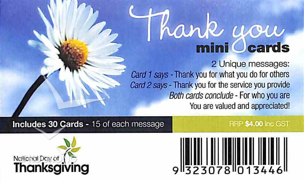 National Day of Thanks Mini Thank You Cards Daisy (30 Pack) Cards