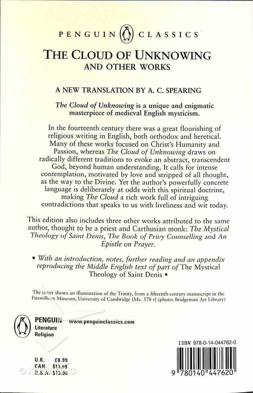 The Cloud of Unknowing and Other Works (Penguin Black Classics Series) Paperback