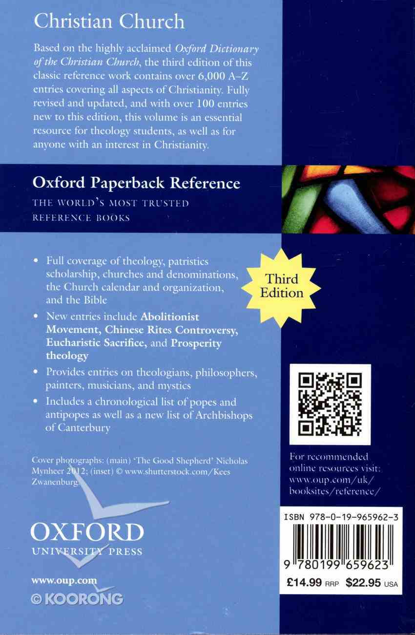 The Concise Oxford Dictionary of the Christian Church (3rd Edition) Paperback
