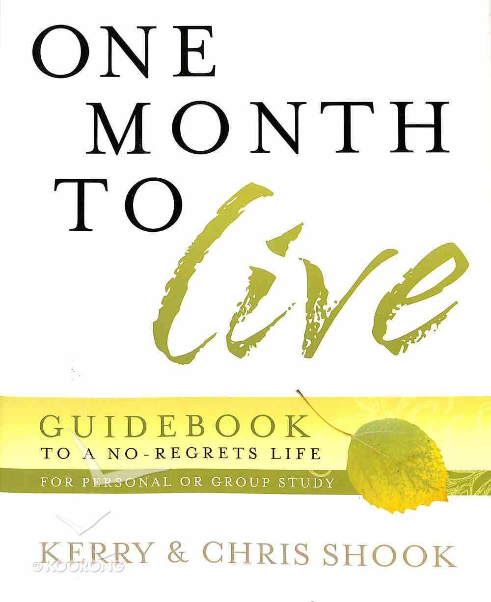 One Month to Live Guidebook Paperback