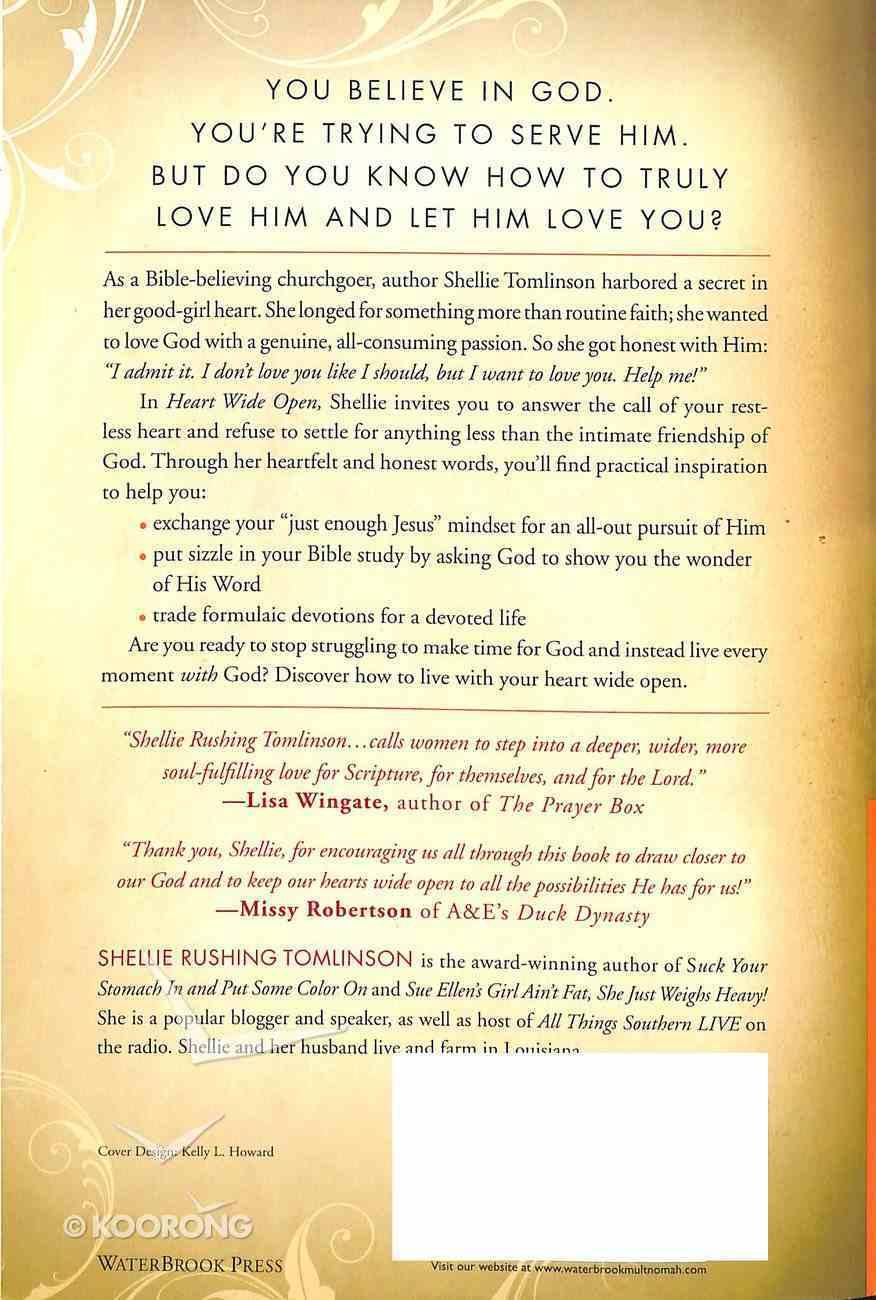 Heart Wide Open Paperback