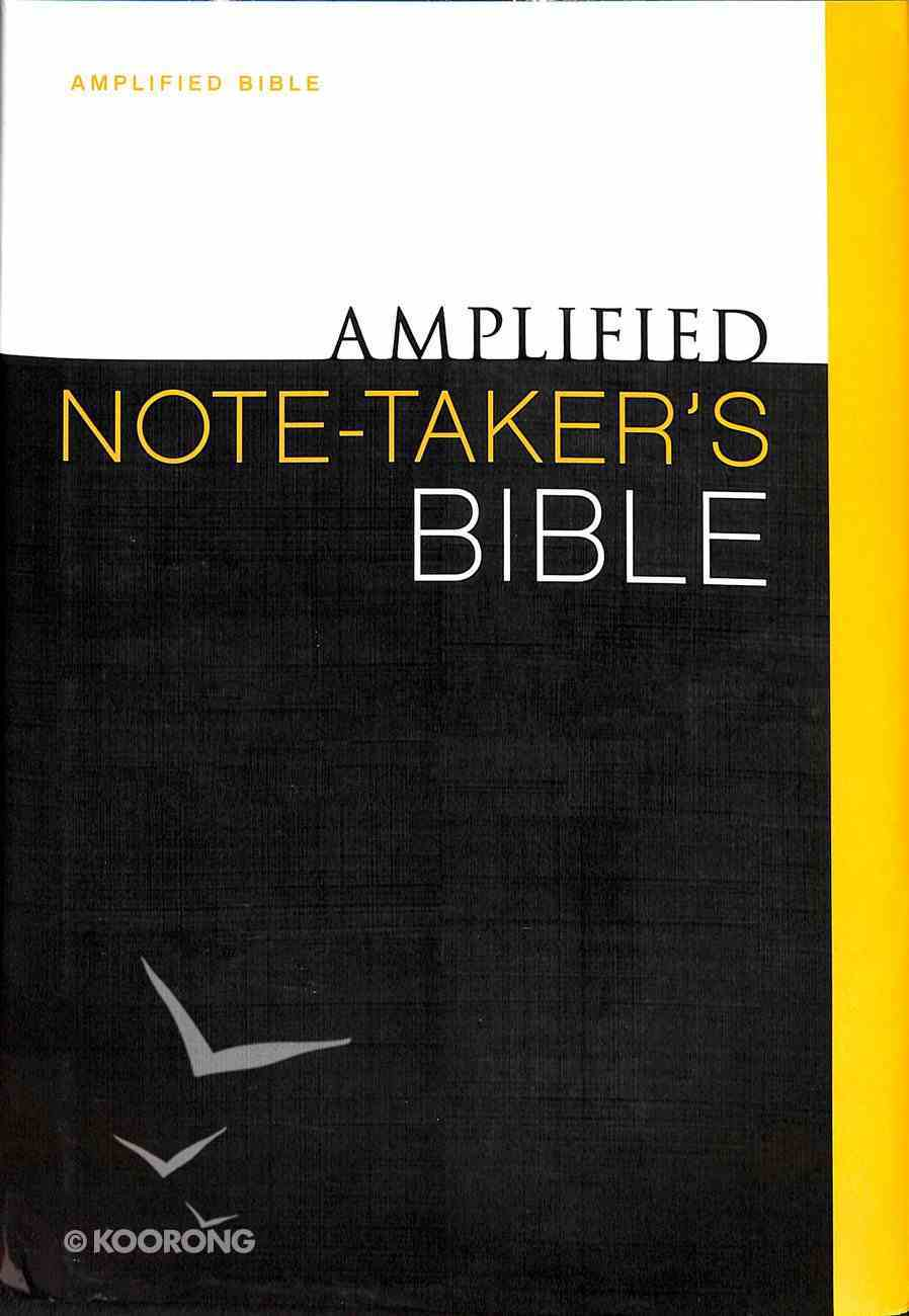 Amplified Note Taker's Bible (Black Letter Edition) Hardback