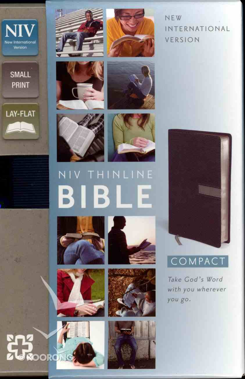 NIV Compact Thinline Bible Slate/Concrete Duo-Tone (Red Letter Edition) Imitation Leather