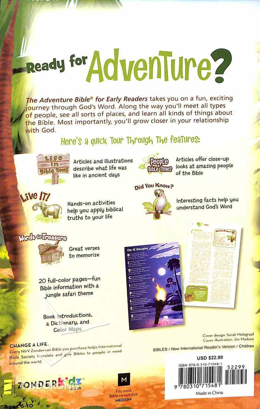 NIRV Adventure Bible For Early Readers Paperback