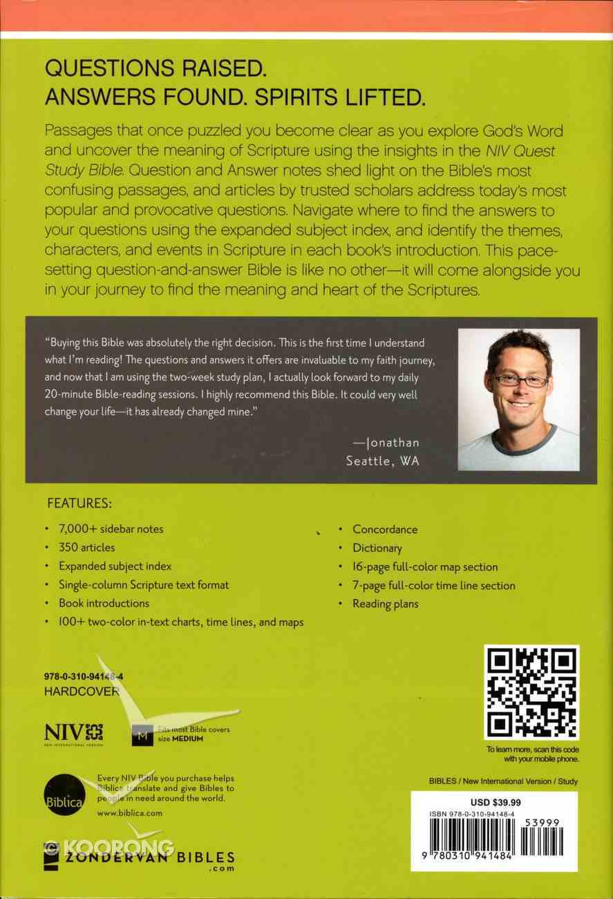 NIV Quest Standard Study Bible (Black Letter Edition) Hardback