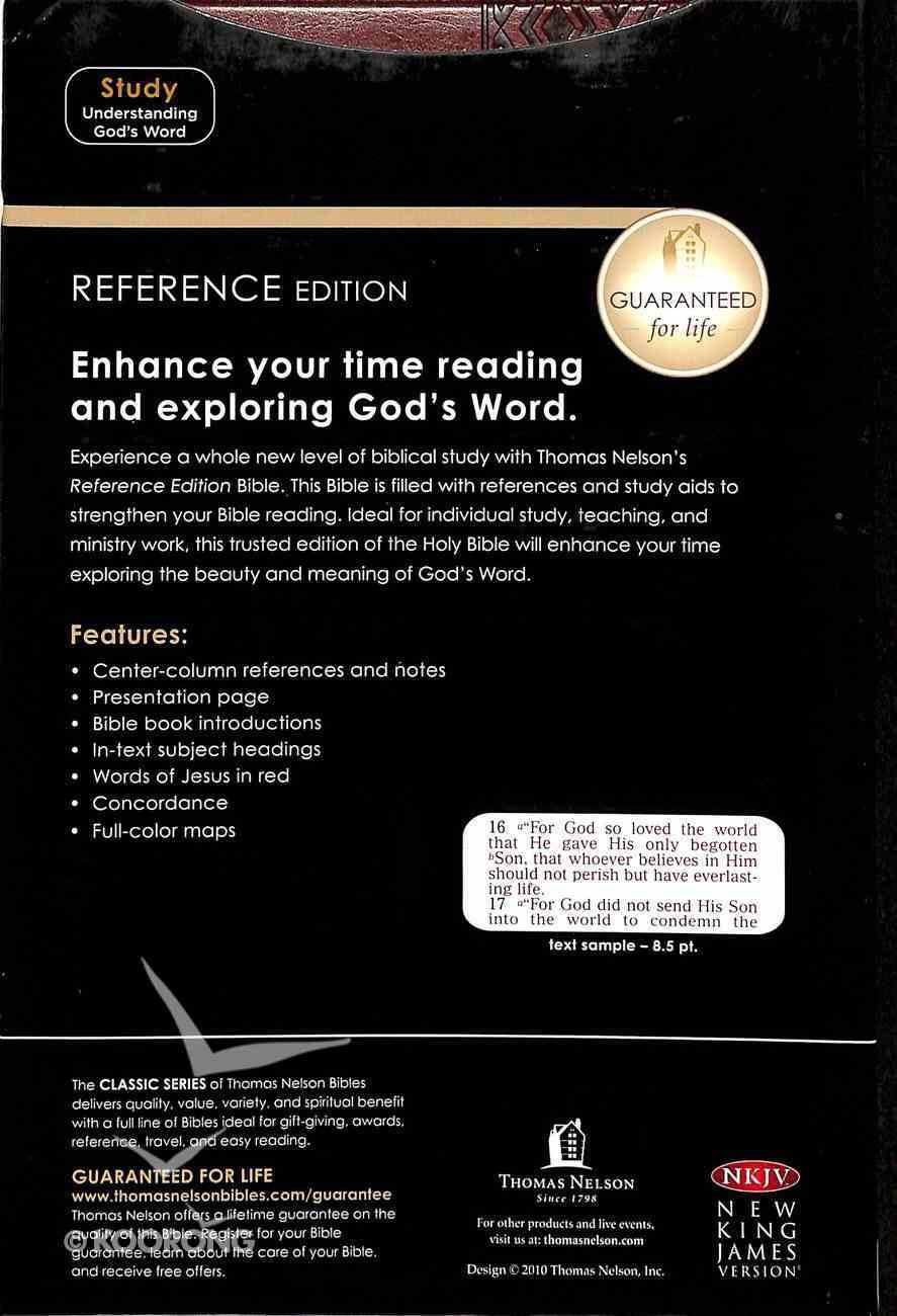 NKJV Center-Column Reference Indexed Bible (Red Letter Edition) Imitation Leather